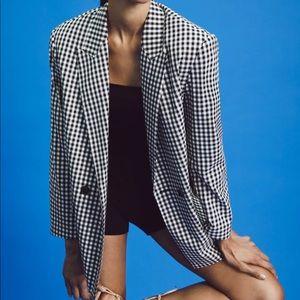 Zara OVERSIZED DOUBLE BREASTED BLAZER JACKET NEW